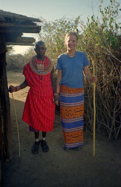 My homestay sister, Isato & I, Kenya 1999