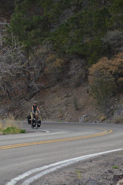 Sarah, almost at the pass