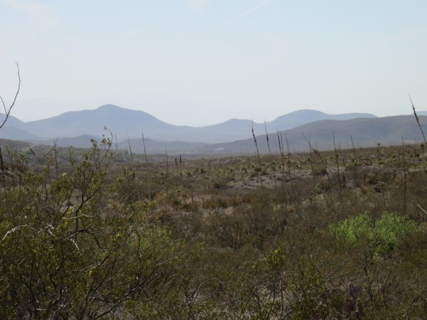 View of the Franklin Mountains coming into El Paso
