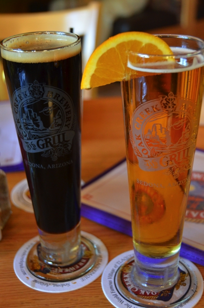 A stop at the Oak Creek Brewery & Grill for lunch yielded good appetizers and lackluster beer.