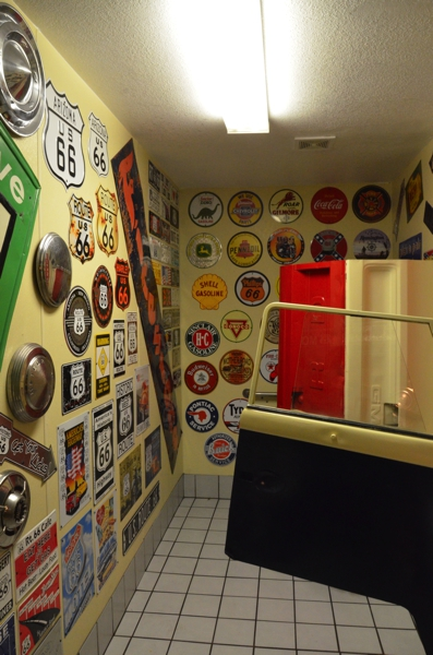 Bathroom in Cruiser's restaurant in Williams, Arizona