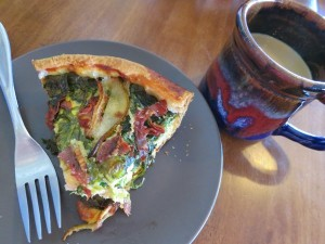 second breakfast - quiche