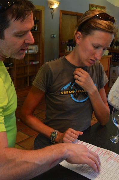 Ron & Sarah selecting wines.