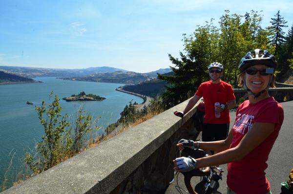Ron and Sarah enjoying the view