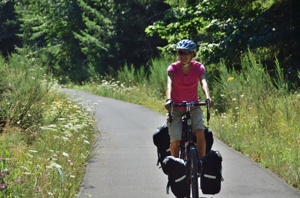 Sarah on the Banks-Vernonia Rails to Trails Park