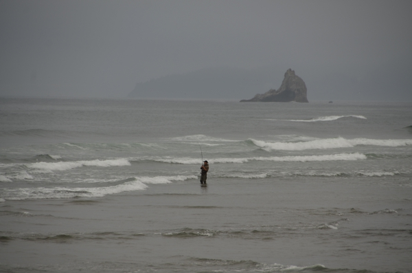 Fisherman at Barview Jetty