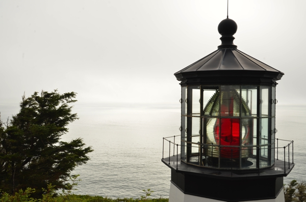 The lantern room of Cape Meares Lighthouse