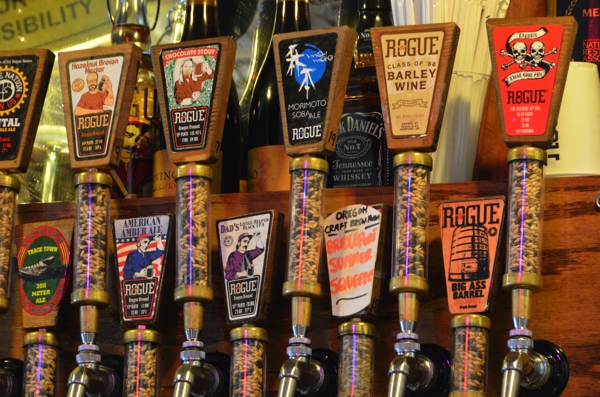 Taps at the Rouge Brewery