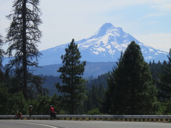 A distant view of Mt. Hood