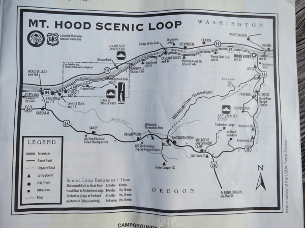 The new route, the Mt. Hood Scenic Loop