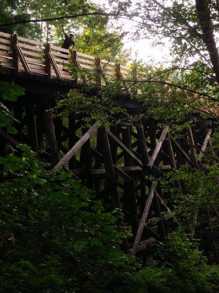trestle bridge on the trail