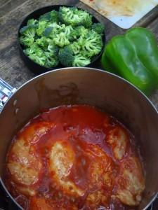 dinner - chipotle braised chicken w/vegies