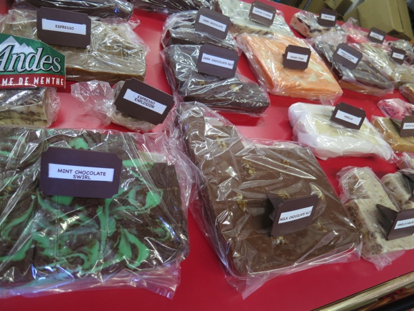 A local candy shop with whole butter and cream fudge and other delicacies