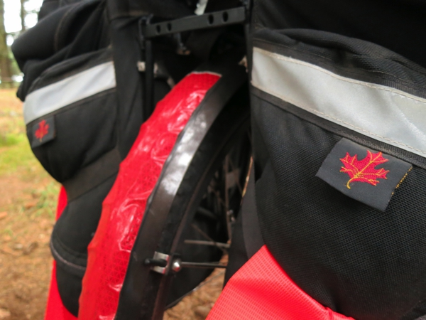 My Arkel panniers are made in Canada. I could pass as a Canadian with all the maple leaves they sewed on the bags.