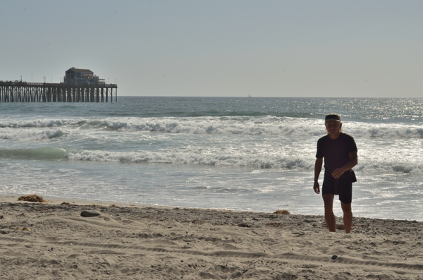 Gerald, on the beach