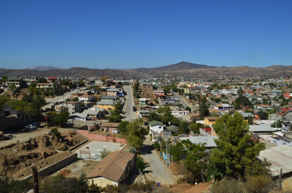 A view of Tecate, looking north, towards the USA
