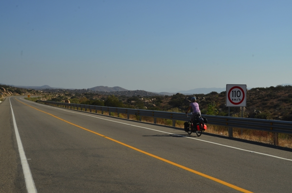 We chose well.  The inland crossing into Mexico seemed to have better roads and lighter traffic compared to reports we read about the coastal road out of Tijuana.