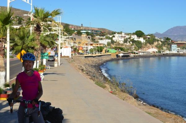 Bicycling along the promenade