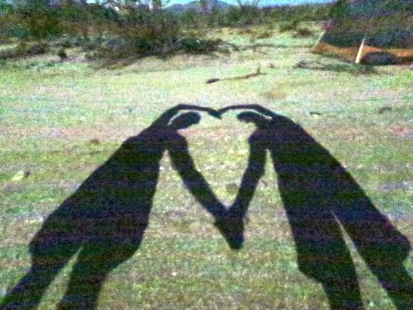 Moon shadows in the desert