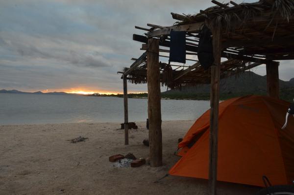 Sunrise on a beautiful camping spot