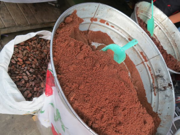 cacao in the market