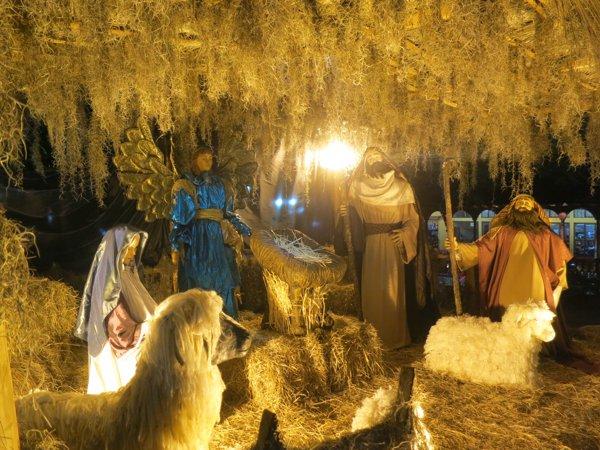 Nativity scene in the plaza