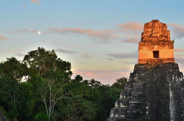 Tikal, Temple I at sunset