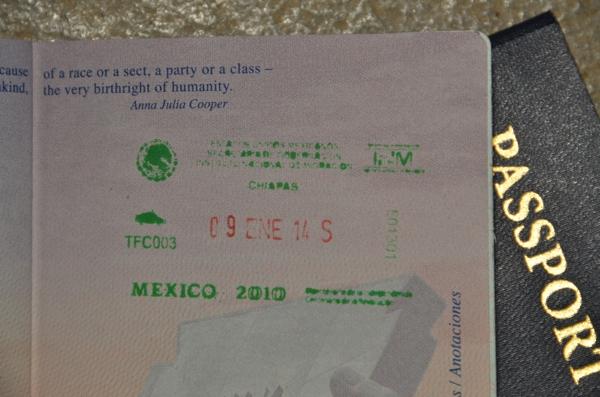 Exit Mexico - Chiapas
