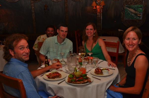 photo bombed at dinner