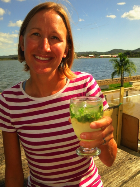 Cheers to Julie S!  This mojito is for you!  I'm looking forward to the flaming cucaracha drink we found in Costa Rica.  I just hope the bar tender doesn't light her fingernail on fire like last time.