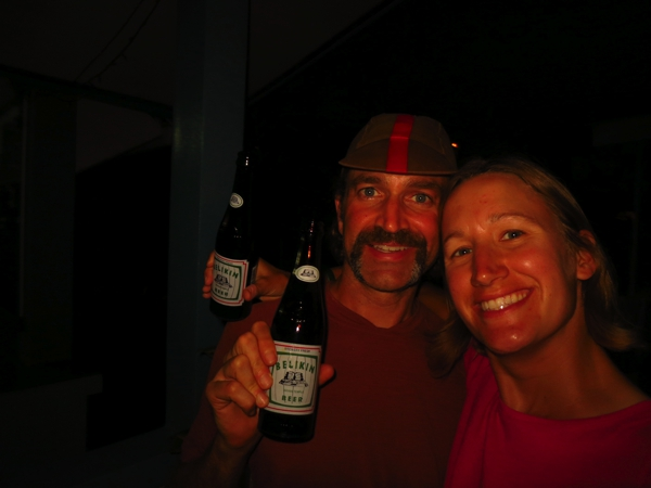 Cheers to Cait and Mark, thanks for the beer!  We can't belize we'll see you next week.  We'll have some cold Belikins waiting for you