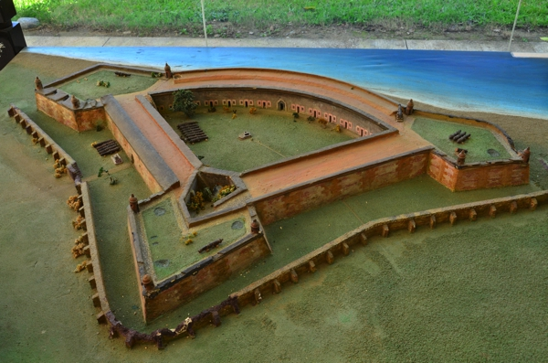 model of the fort