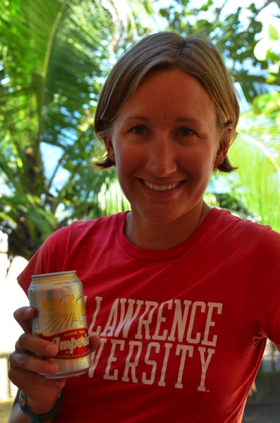 Thank you David R.  Cheers for our first beer in Honduras!