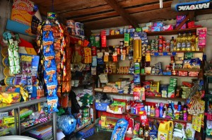 inside of a typical roadside tienda