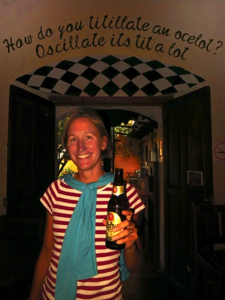 Cheers to Charles S! Thanks for the beer, and as the sign says, be nice to ocelots.
