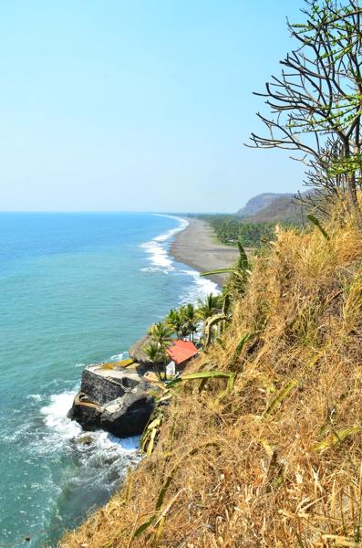 View along the coast of El Salvador