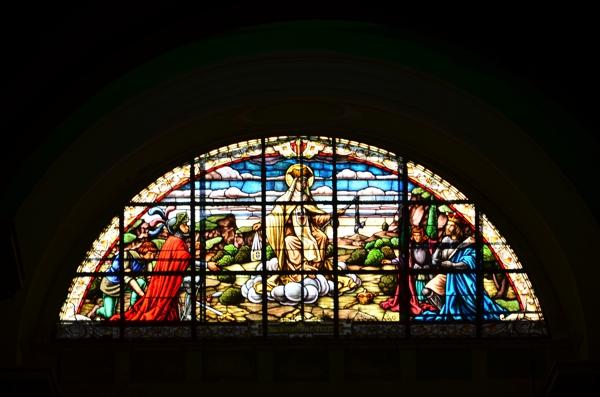 Stained glass window from Iglesia de La Merced