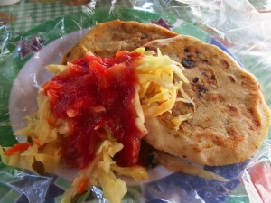 pupusas - these are the best looking ones we've had