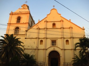 seventeenth-century cathedral in Choluteca's central park