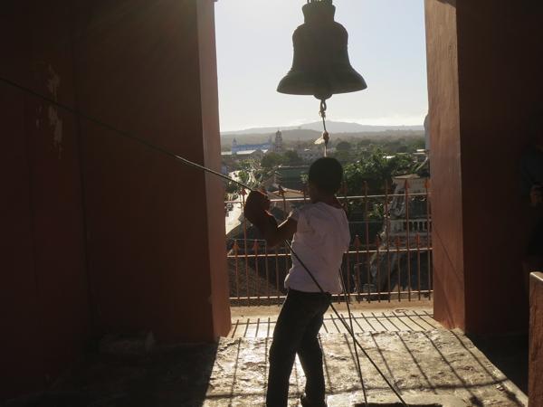 Ringing the bells at La Merced