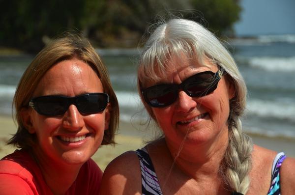 Mom & I on the beach