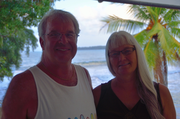 Mom & Orson on the hotel balcony