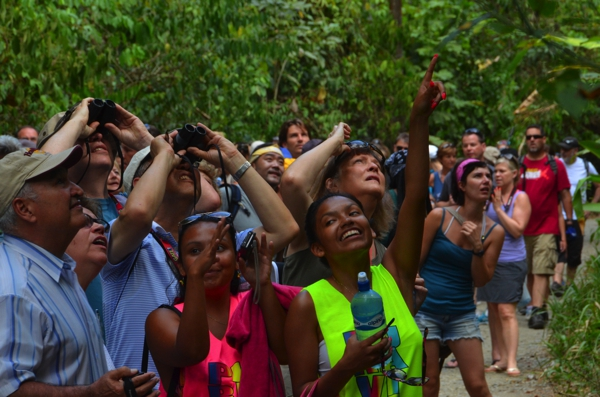 The Manuel Antonio National Park was SUPER crowded at the start of the trail.