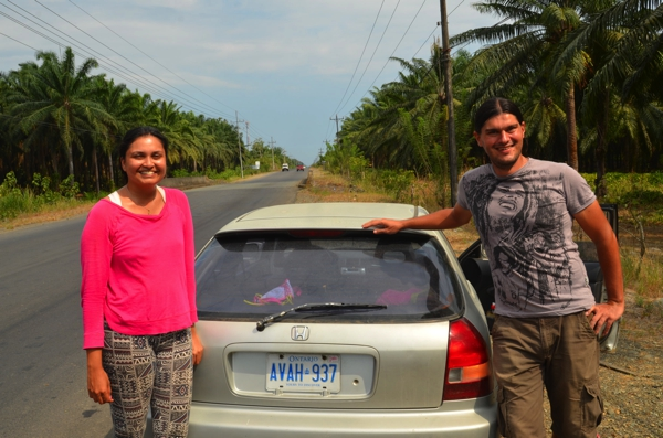 These crazy Canadians, Theo & Shikha, drove this little car from Toronto!