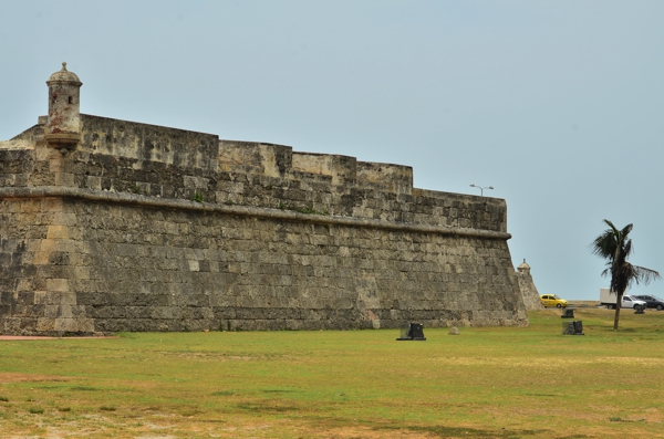 A view of Cartagena's fortifications