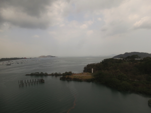 View of the Panama Canal from the Bridge of the Americas
