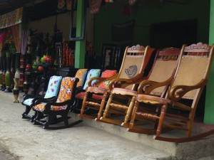 We did pass through one town that had beautiful handmade furniture.