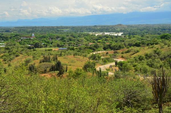 Finally on the right road, we climb away from Villavieja