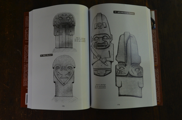 The sculpture (above) as it appears sketched (left side) in the book