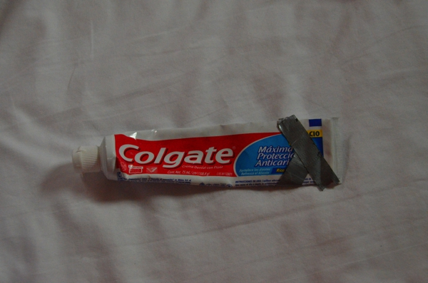 Sometimes even your toothpaste needs to be repaired